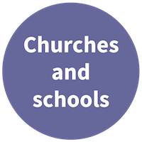 Churches and schools